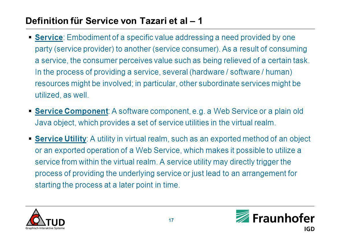 Definition für Service von Tazari et al – 1