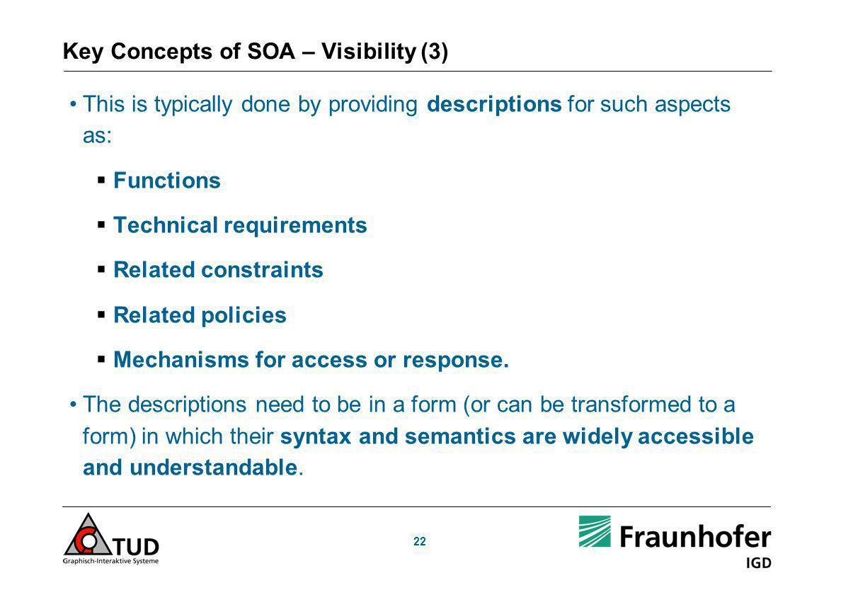 Key Concepts of SOA – Visibility (3)