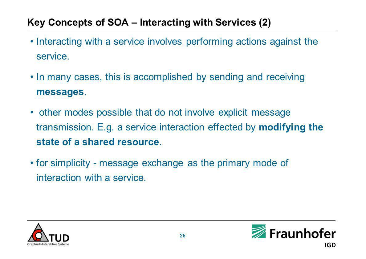 Key Concepts of SOA – Interacting with Services (2)