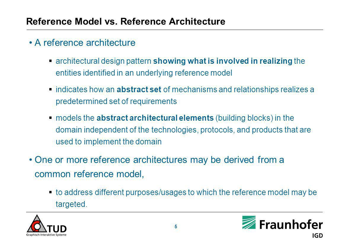 Reference Model vs. Reference Architecture