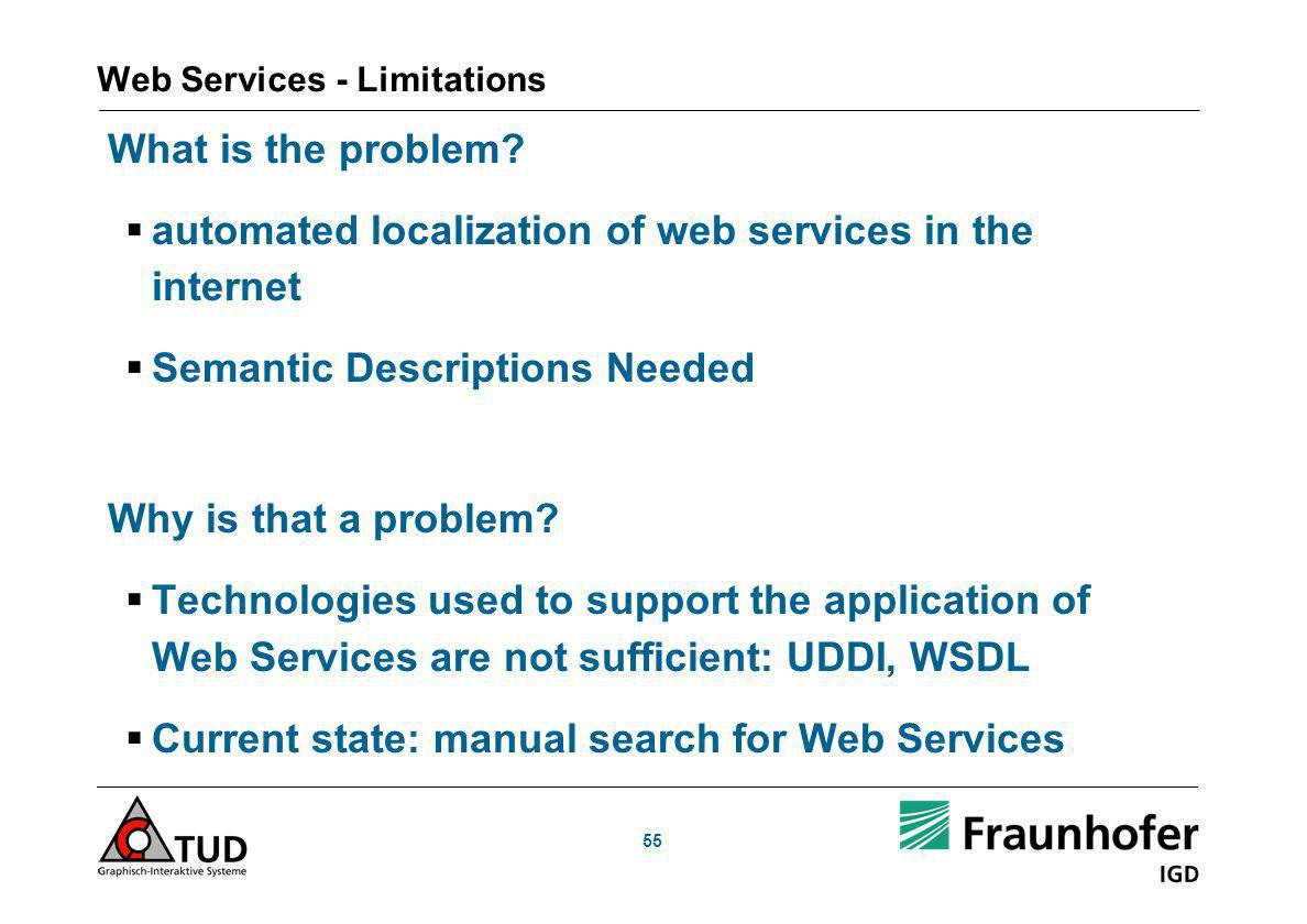 Web Services - Limitations