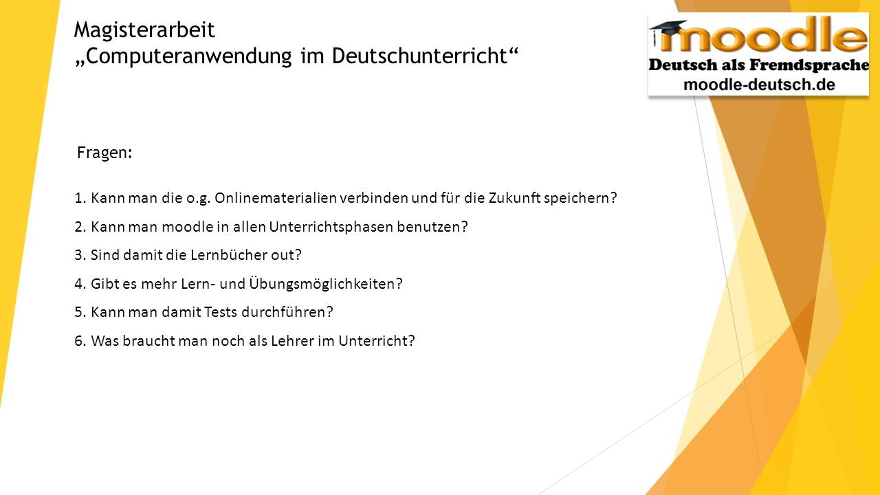"""""""Computeranwendung im Deutschunterricht"""