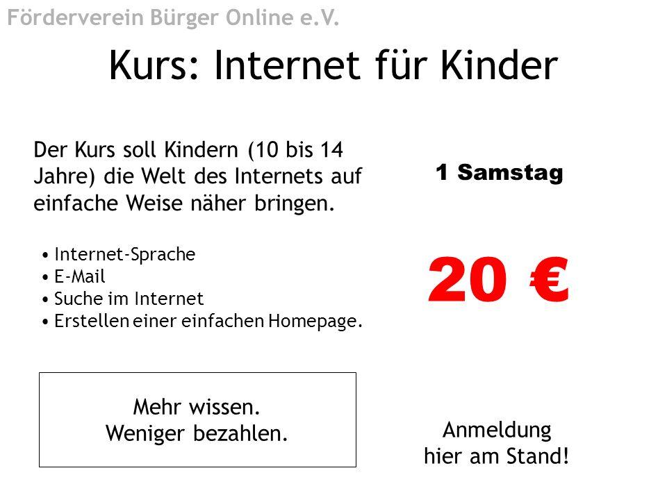 Kurs: Internet für Kinder