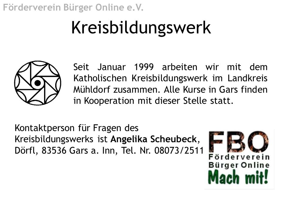Kreisbildungswerk Förderverein Bürger Online e.V.
