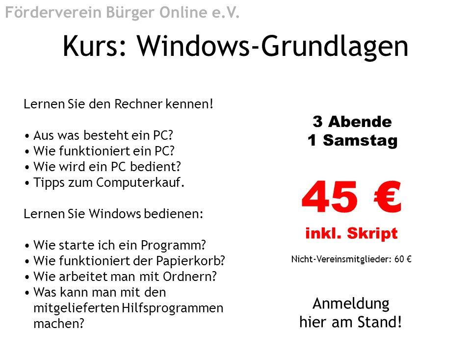 Kurs: Windows-Grundlagen