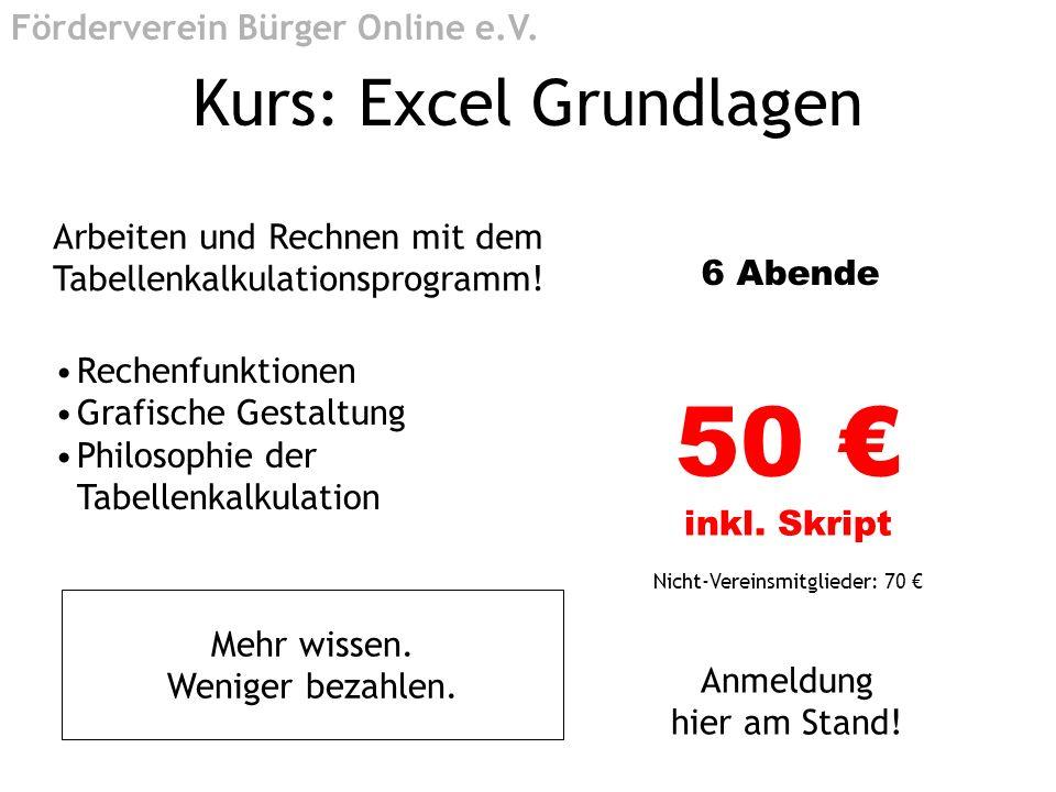 Kurs: Excel Grundlagen
