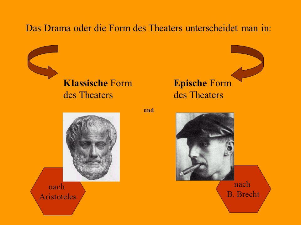 Das Drama oder die Form des Theaters unterscheidet man in: