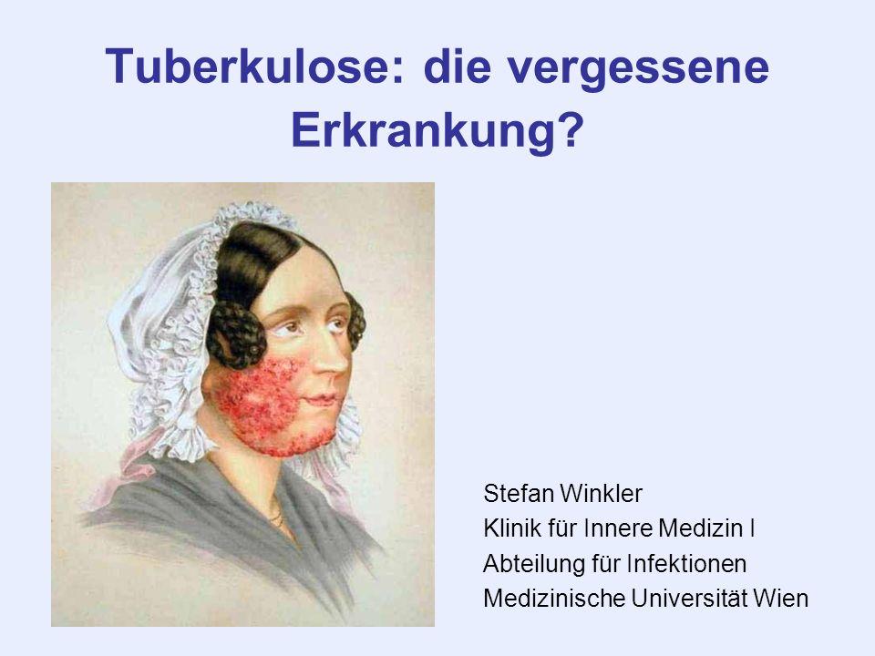 Tuberkulose: die vergessene Erkrankung
