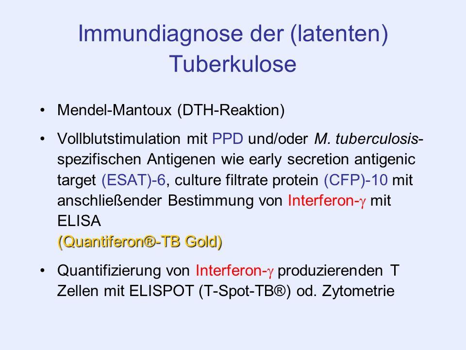 Immundiagnose der (latenten) Tuberkulose