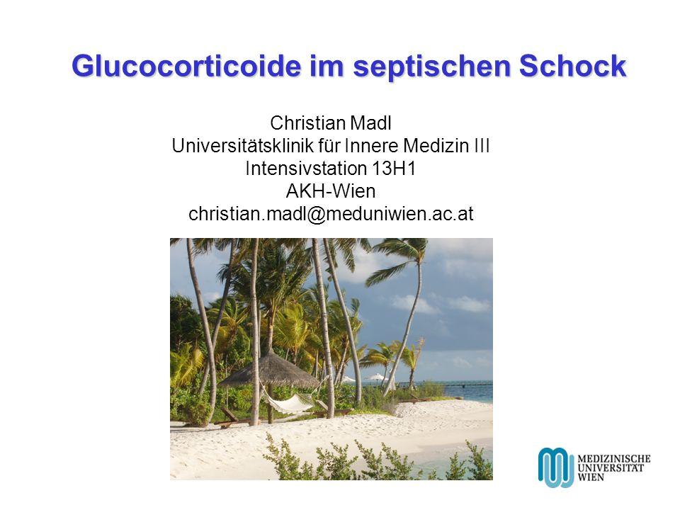 Glucocorticoide im septischen Schock