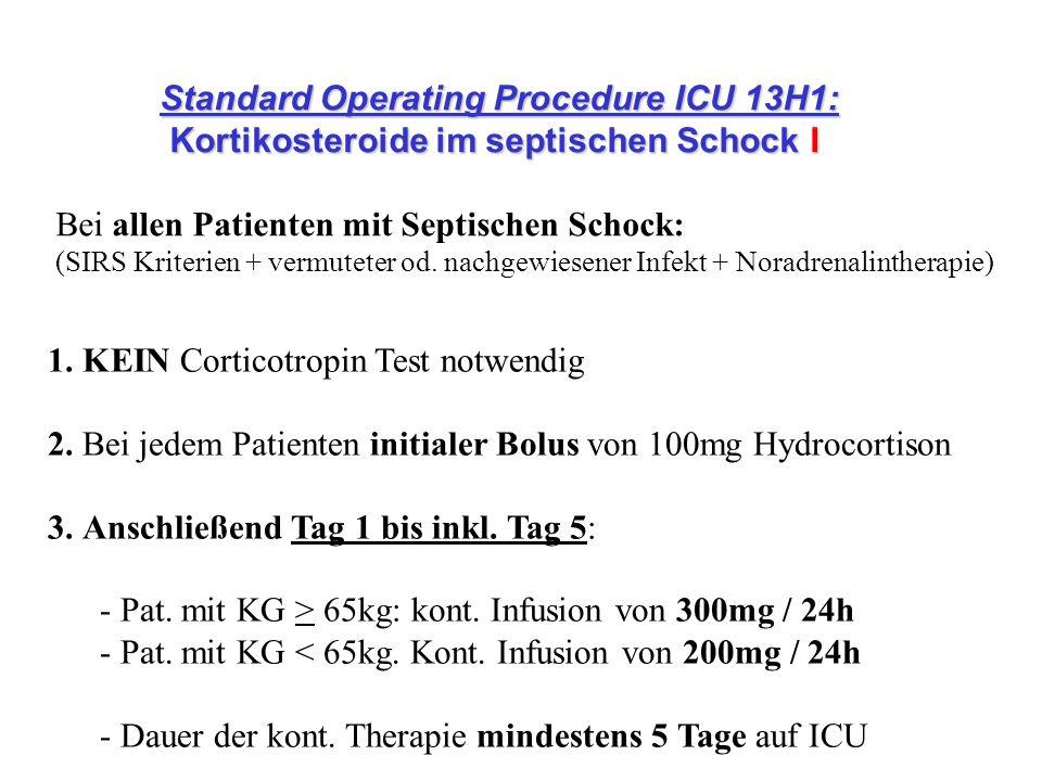Standard Operating Procedure ICU 13H1: