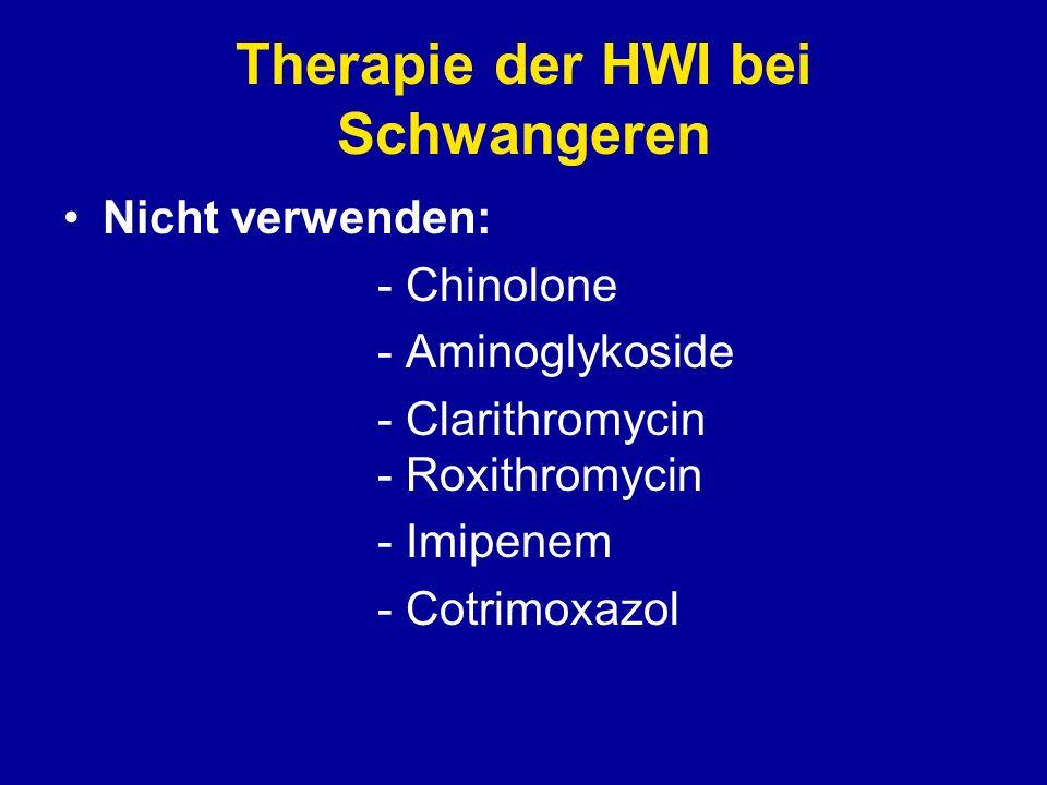 Therapie der HWI bei Schwangeren