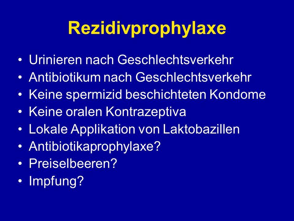 Rezidivprophylaxe Urinieren nach Geschlechtsverkehr