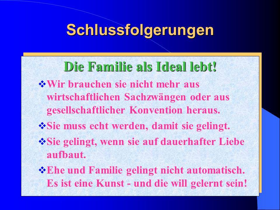 Die Familie als Ideal lebt!