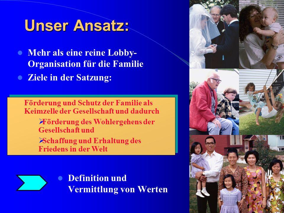 Unser Ansatz: Mehr als eine reine Lobby-Organisation für die Familie