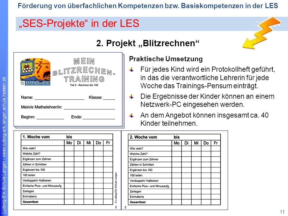 "2. Projekt ""Blitzrechnen"