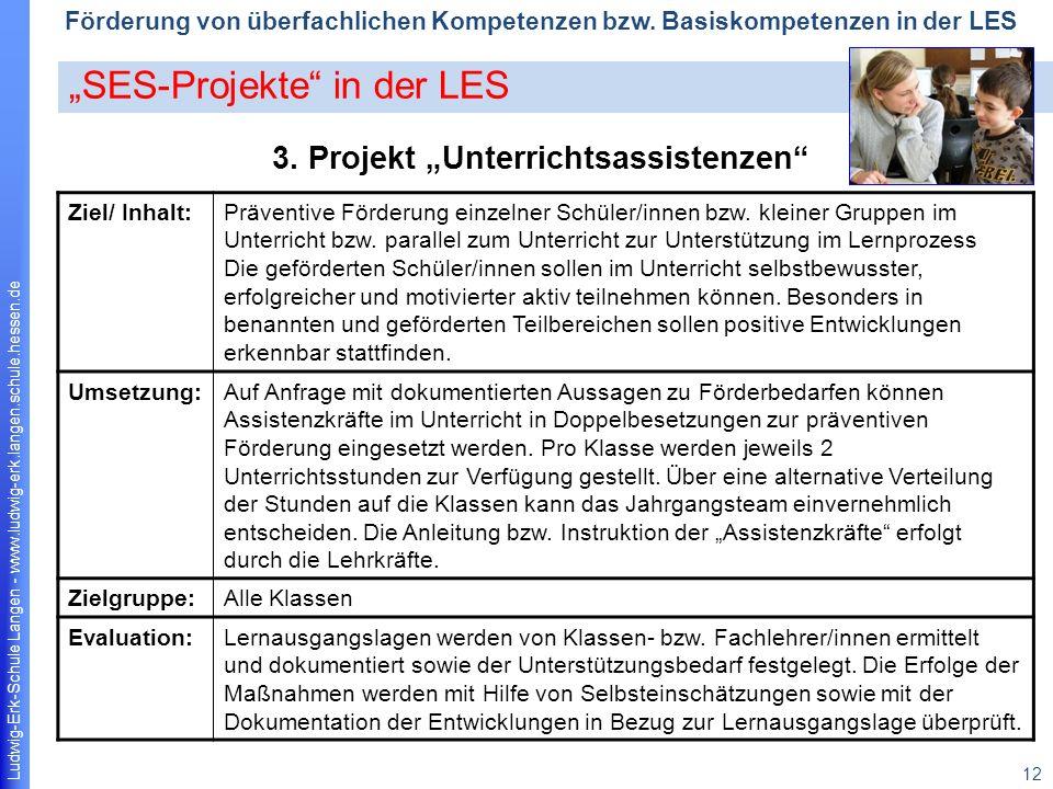 """3. Projekt """"Unterrichtsassistenzen"""
