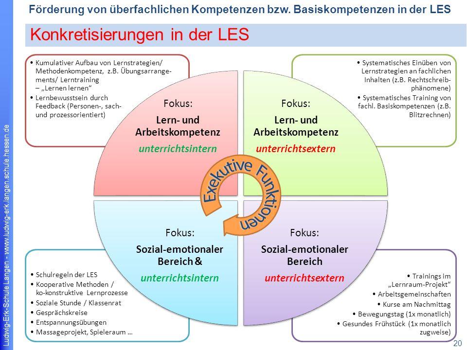 Exekutive Funktionen Konkretisierungen in der LES Fokus: