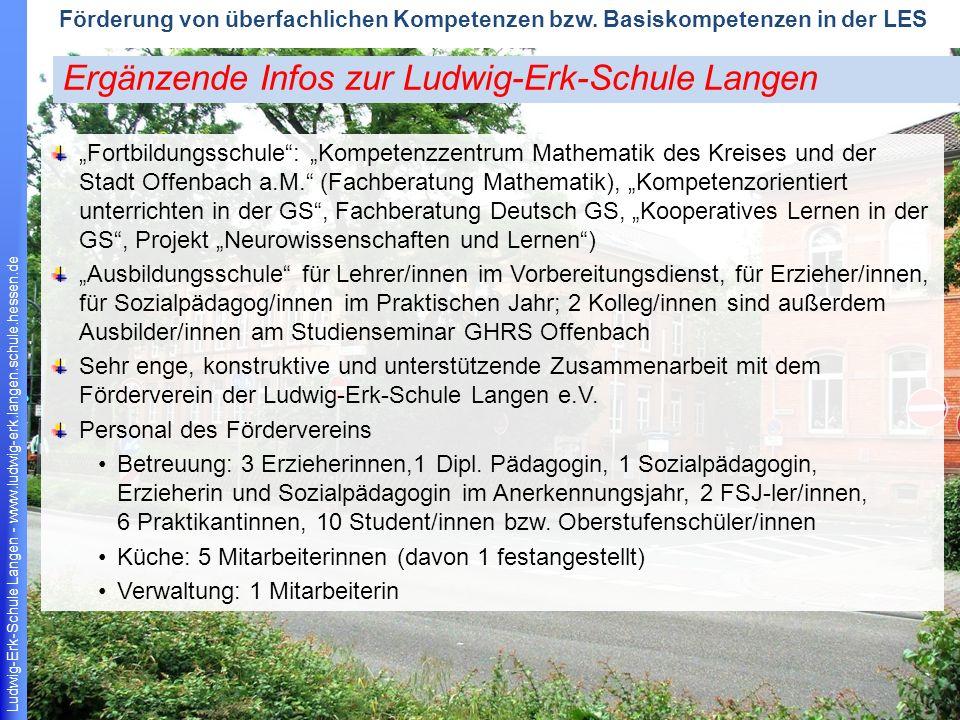 Ergänzende Infos zur Ludwig-Erk-Schule Langen