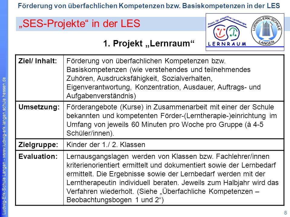 """""""SES-Projekte in der LES"""