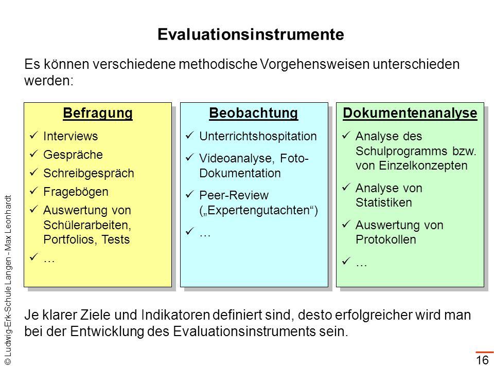 Evaluationsinstrumente