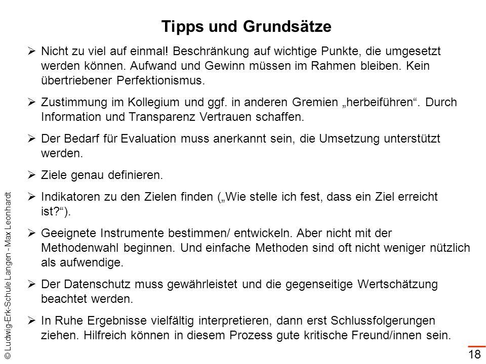 Tipps und Grundsätze