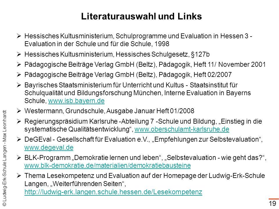Literaturauswahl und Links