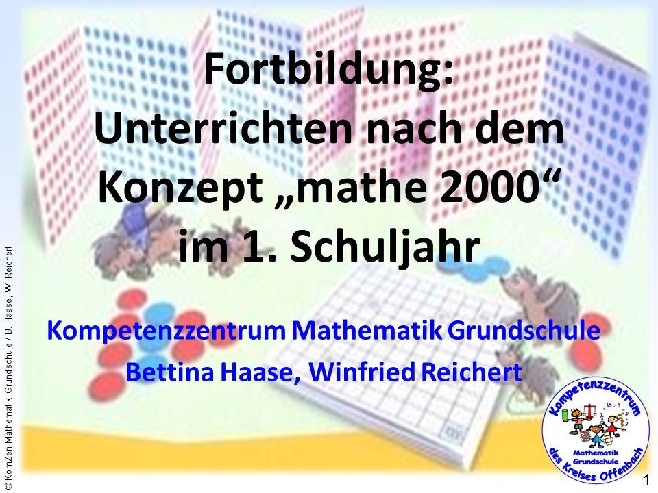 """Fortbildung: Unterrichten nach dem Konzept """"mathe 2000 im 1. Schuljahr"""