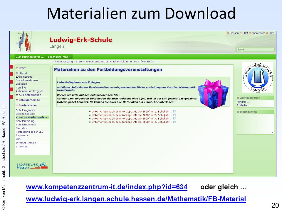 Materialien zum Download