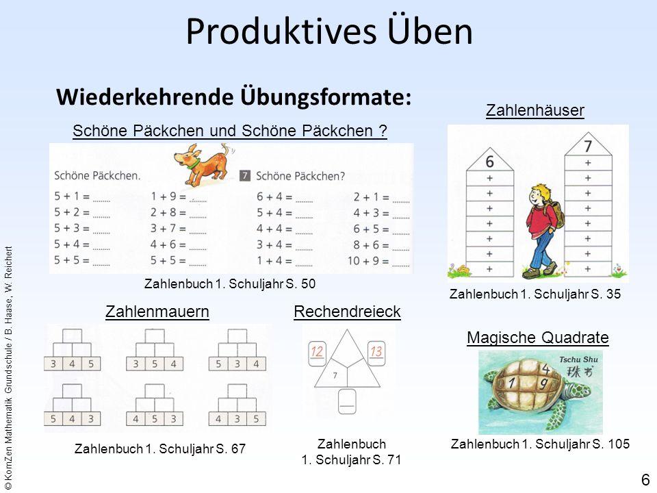 Produktives Üben Wiederkehrende Übungsformate: Zahlenhäuser