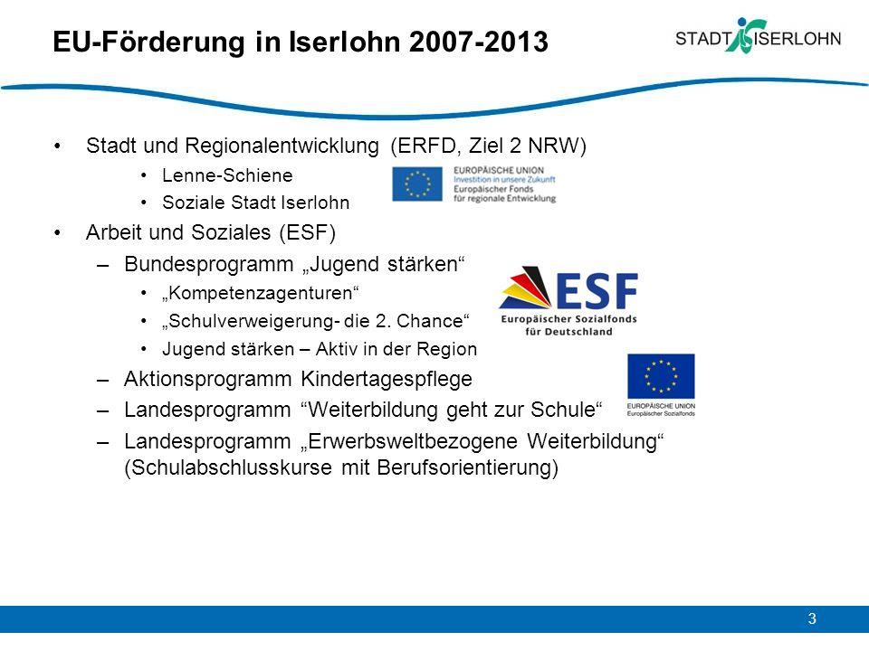 EU-Förderung in Iserlohn 2007-2013