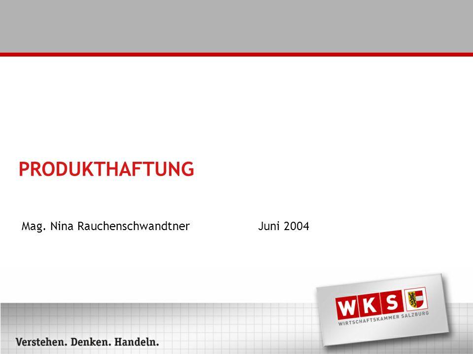Mag. Nina Rauchenschwandtner Juni 2004