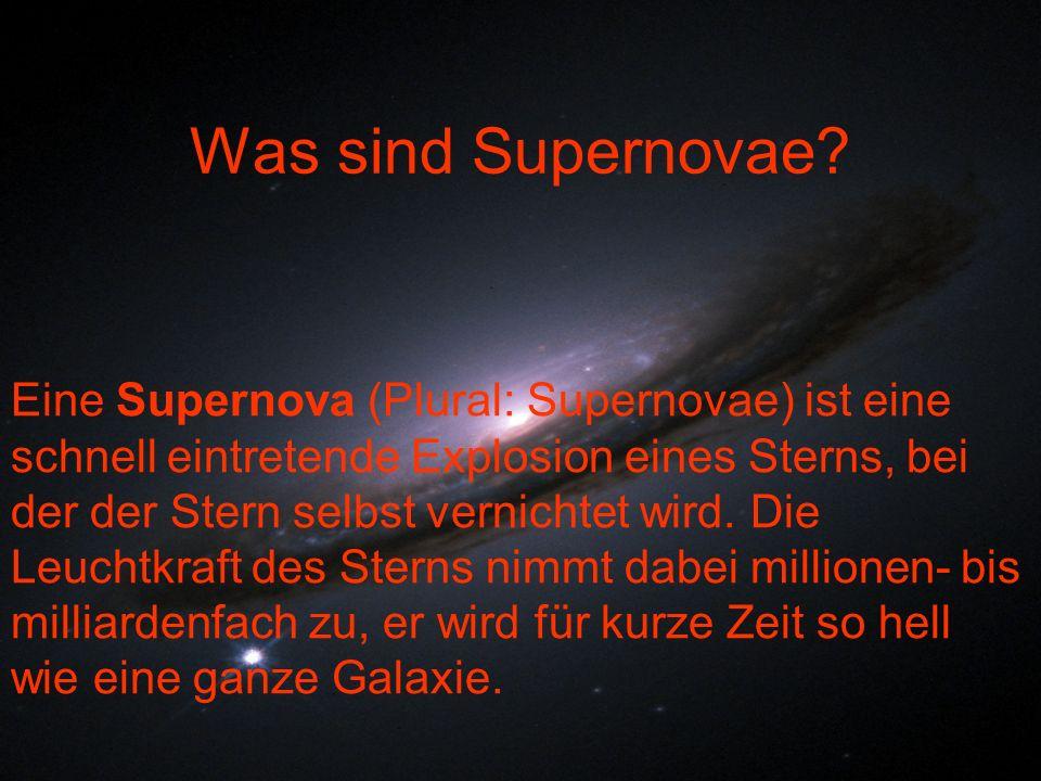 Was sind Supernovae