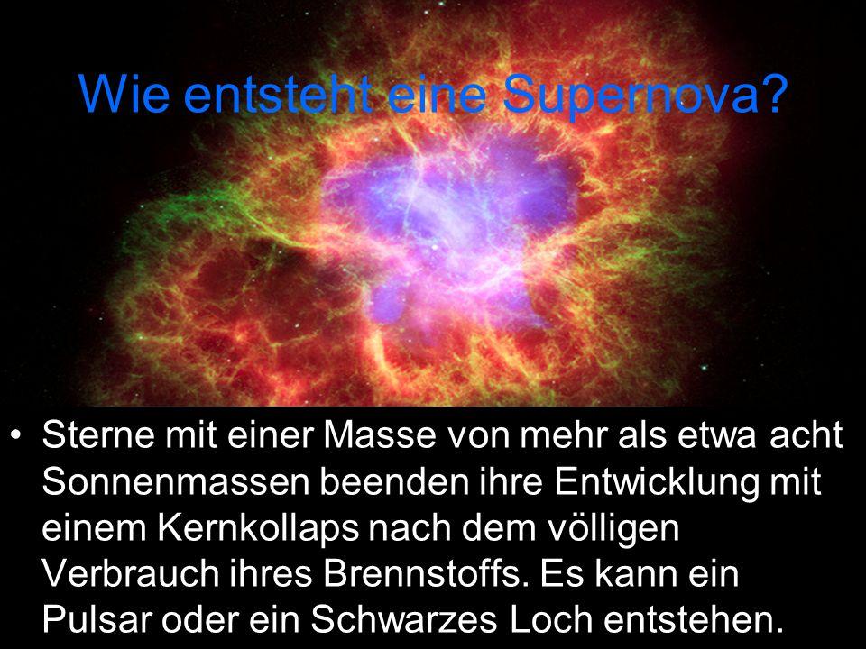 Wie entsteht eine Supernova