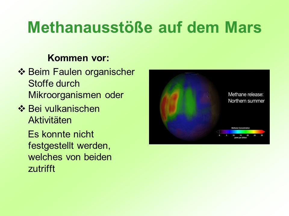 Methanausstöße auf dem Mars