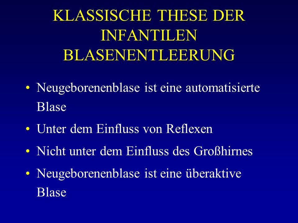 KLASSISCHE THESE DER INFANTILEN BLASENENTLEERUNG