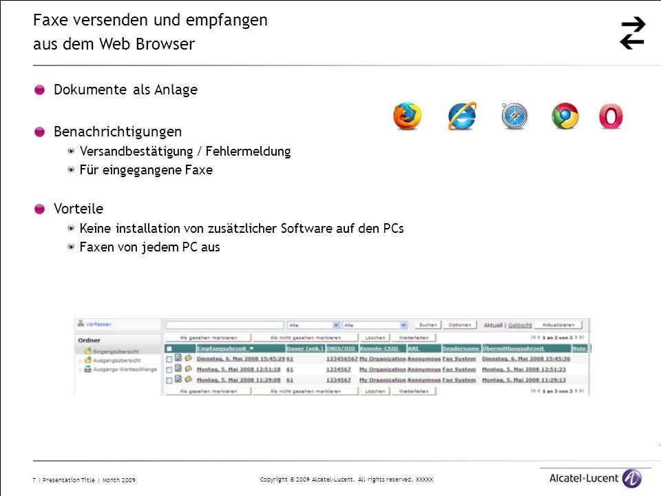 Faxe versenden und empfangen aus dem Web Browser