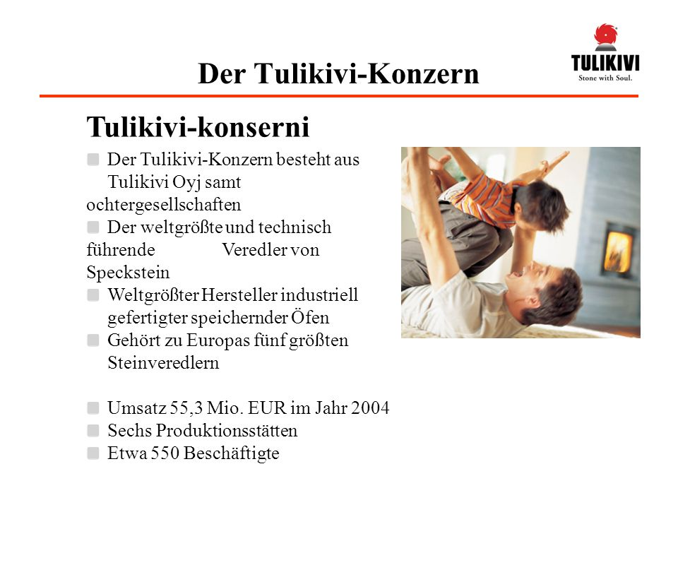 Der Tulikivi-Konzern Tulikivi-konserni