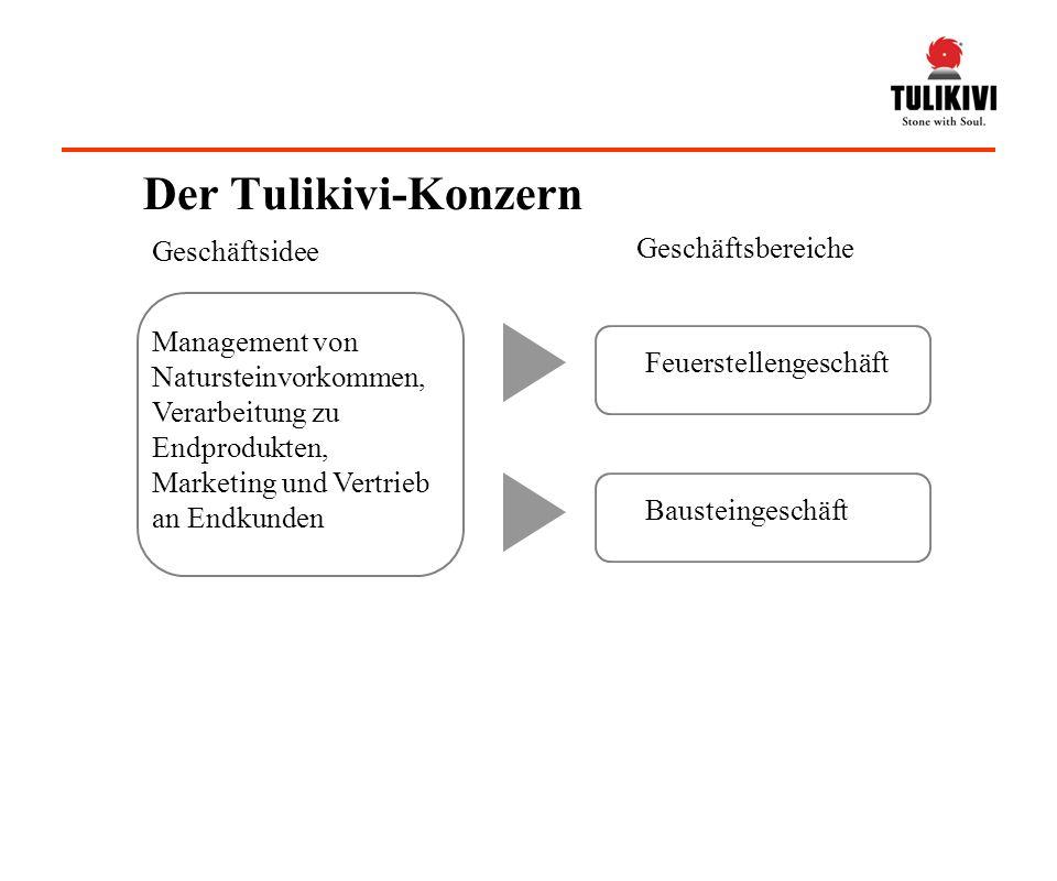 Der Tulikivi-Konzern Geschäftsbereiche Geschäftsidee