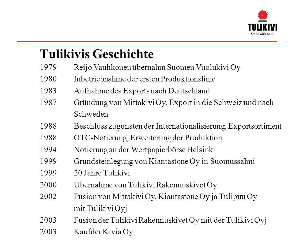 Tulikivis Geschichte 1979 Reijo Vauhkonen übernahm Suomen Vuolukivi Oy
