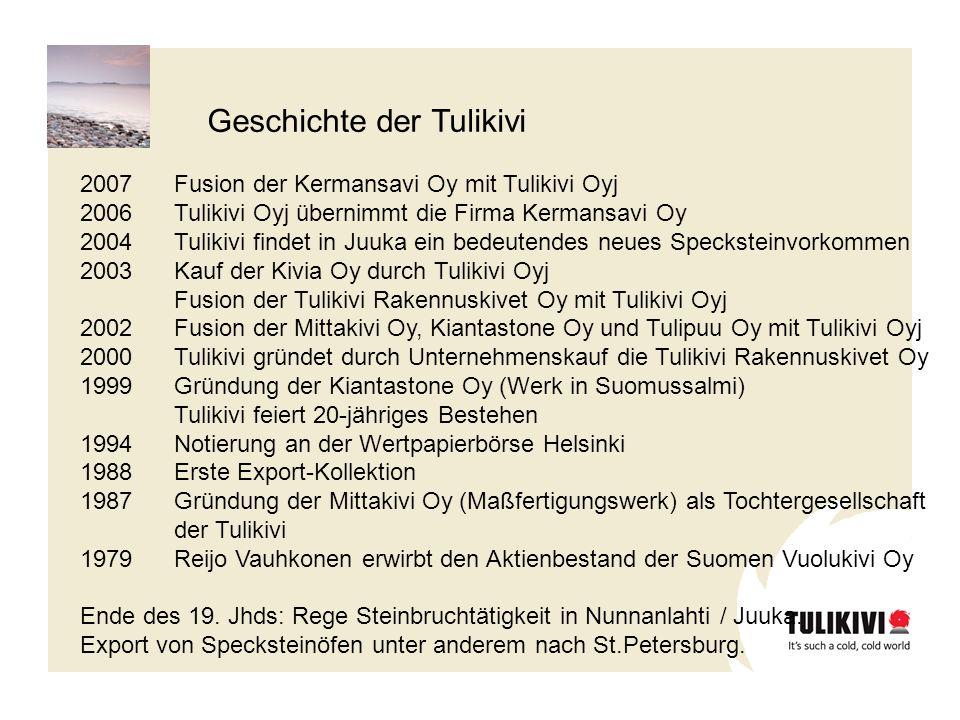 Geschichte der Tulikivi