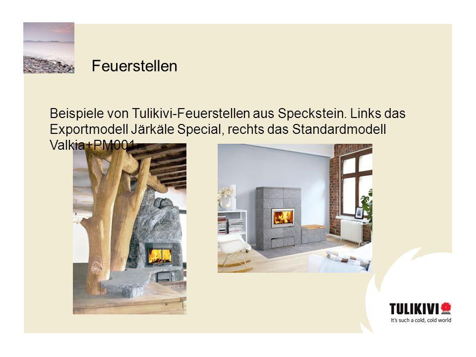 Feuerstellen Beispiele von Tulikivi-Feuerstellen aus Speckstein.