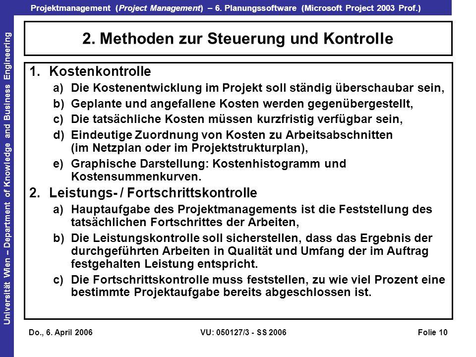 2. Methoden zur Steuerung und Kontrolle