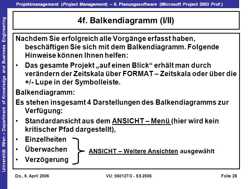 4f. Balkendiagramm (I/II)