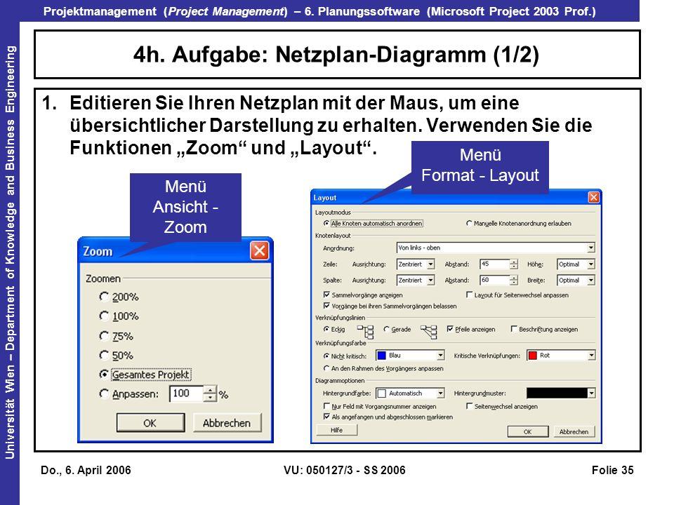 4h. Aufgabe: Netzplan-Diagramm (1/2)