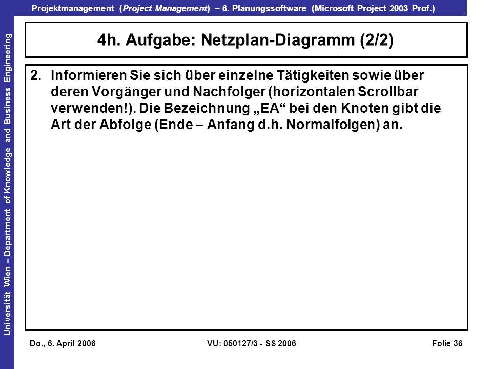 4h. Aufgabe: Netzplan-Diagramm (2/2)