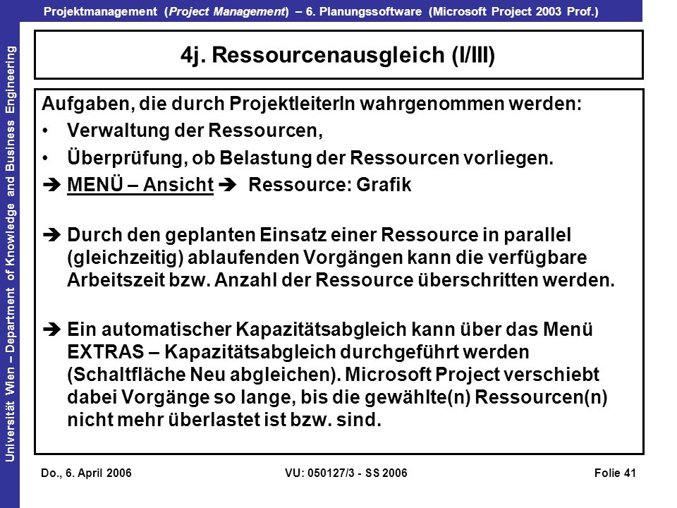 4j. Ressourcenausgleich (I/III)