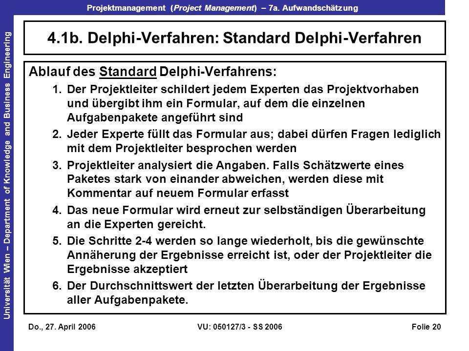 4.1b. Delphi-Verfahren: Standard Delphi-Verfahren