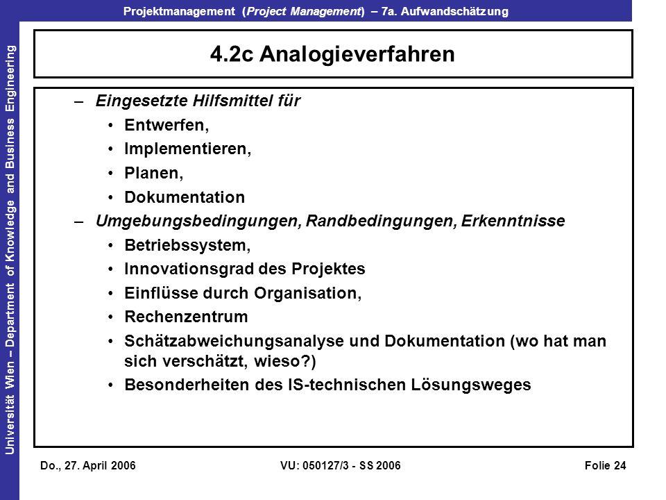 4.2c Analogieverfahren Eingesetzte Hilfsmittel für Entwerfen,