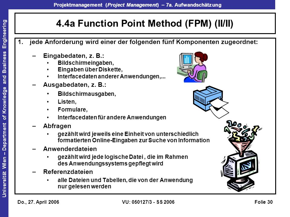 4.4a Function Point Method (FPM) (II/II)